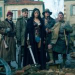 From left to right: Sameer (Saïd Taghhmaoui), Steve Trevor (Chris Pine), Diana Prince (Gal Gadot), The Cheif (Eugene Brave Rock) and Charlie (Ewen Bremmer), pose for a photo after saving a small town in the Eastern Front in Belgium