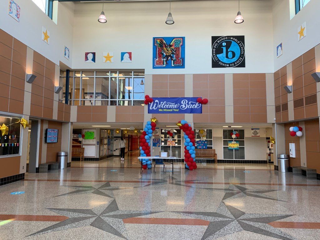 marshall high school is open to students for the first time in almost a year